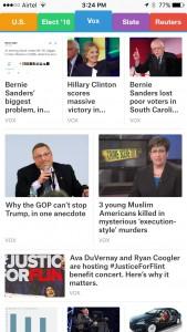 SmartNews app with channels